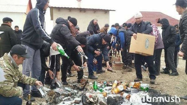 Запрет спиртного в селе Кара-Күңгөй Кочкорского района