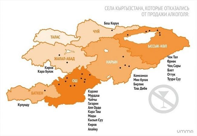 Запрет алкоголя в Кыргызстане