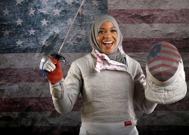 Ибтихадж Мухаммад - первая в истории олимпийской сборной США спортсменка в платке