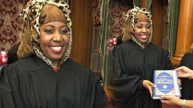 Каролен Валкер Диалло - первая судья в Нью-Йорке, которая дала присягу на Коране