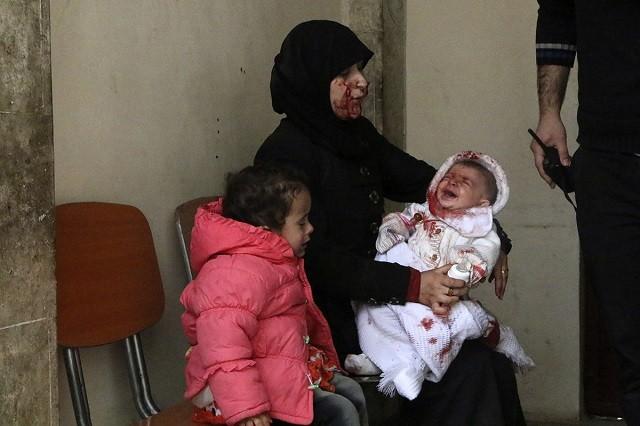 сирия, пострадавшие, бочковая бомба