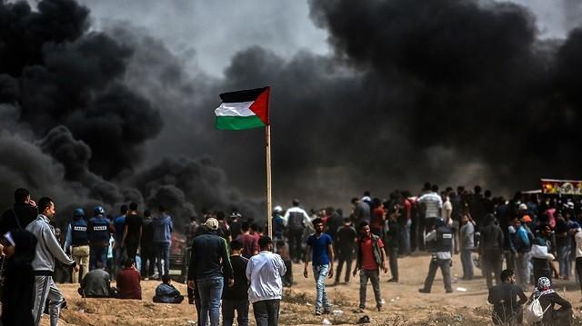 Палестина, Газа, протест