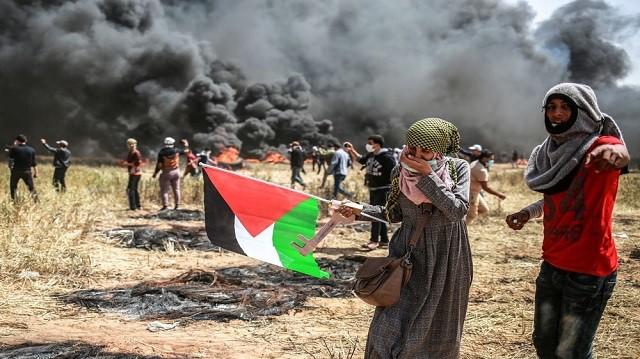 Палестина, Газа, протест, марш