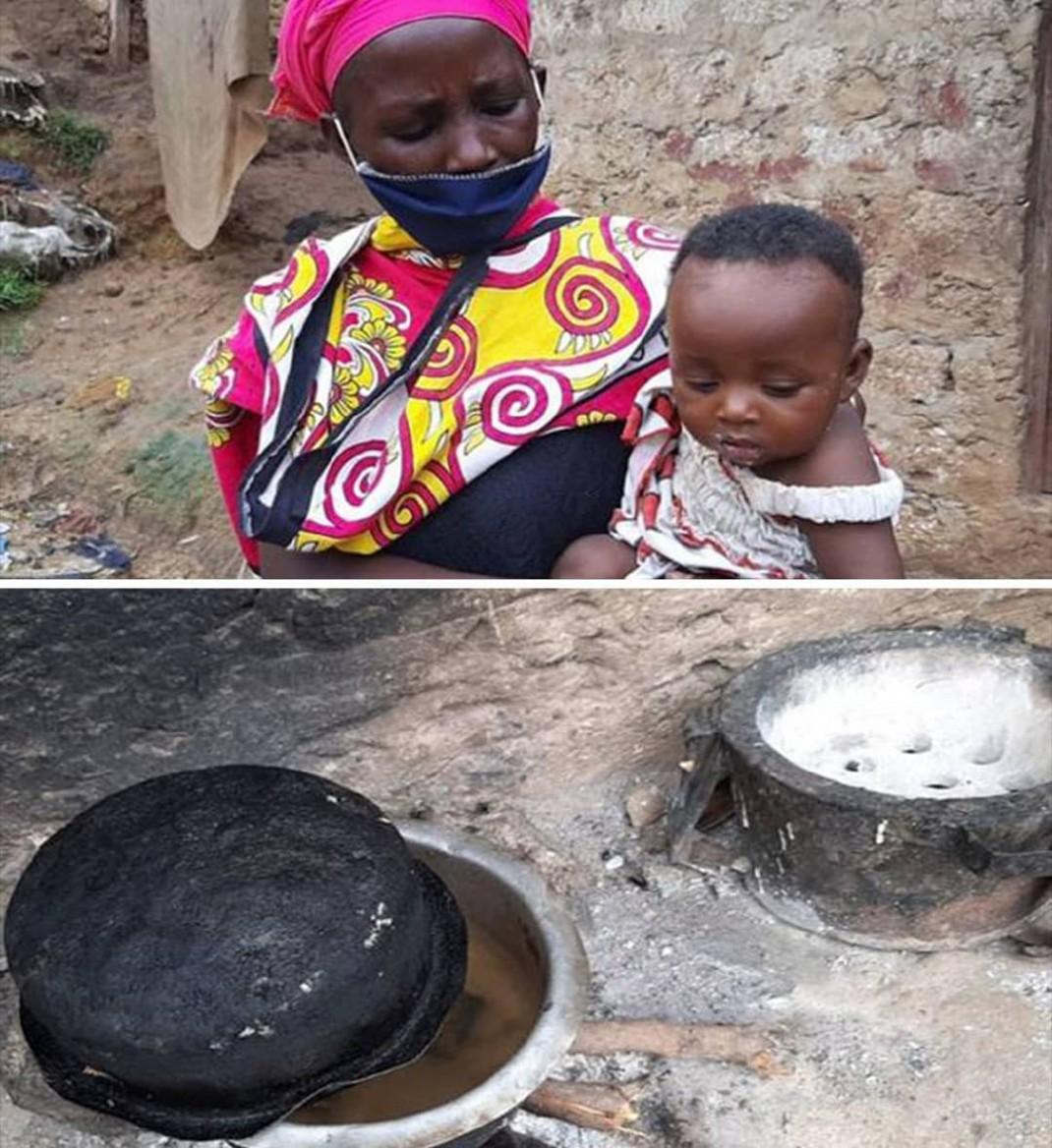Бедная женщина из Кении вынуждена готовить камни своим детям, надеясь, что они заснут в ожидании еды (с)</p><p>